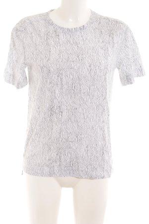 Helmut Lang T-Shirt weiß-schwarz abstraktes Muster Casual-Look