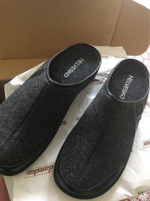 Helvesko Sevilla grau, Hausschuhe Schuhe Komfort neu und ungetragen in OVP Gr. 41