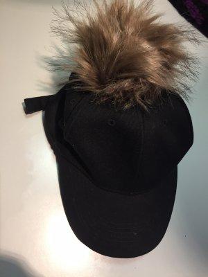 Hem&edge Schirmmütze mit pommel schwarz one size