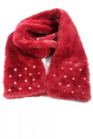 Hem&edge Shoulder Scarf red casual look