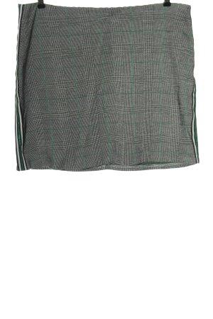 Hema Minigonna grigio chiaro-verde motivo a quadri stile casual