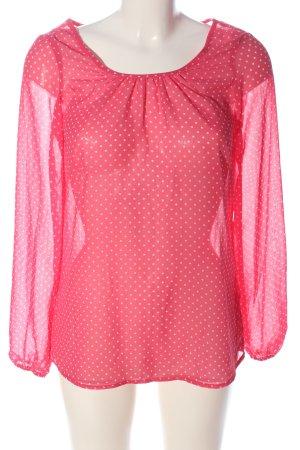 Hema Camicetta da notte rosa-bianco motivo a pallini elegante