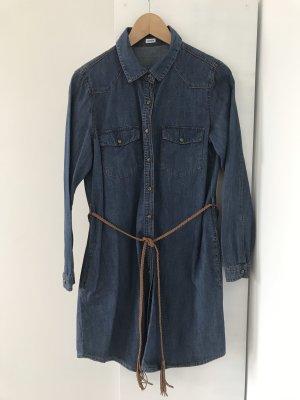 Pimkie Jeansjurk cognac-blauw Katoen