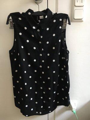H&M Chemise à manches courtes noir-blanc