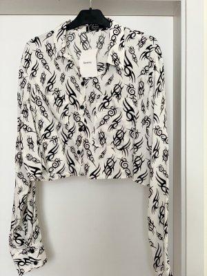Bershka Flannel Shirt white