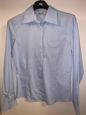 Chemise à manches longues bleu azur