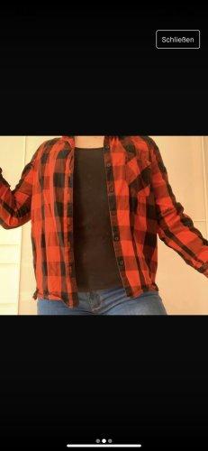 Blue Motion Camicia da boscaiolo nero-rosso