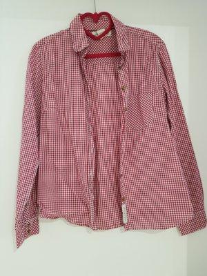 H&M L.O.G.G. Folkloristische hemd wit-donkerrood