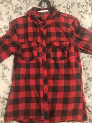 Only Hunting Shirt black-dark red