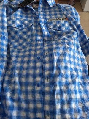 1060 Chemise à manches longues bleu fluo