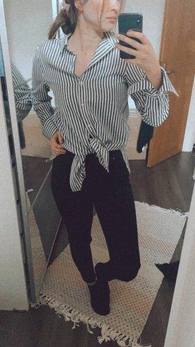 H&M Chemise à manches longues noir-blanc