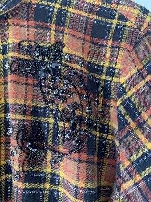 s.Oliver Black Label Flanelowa koszula cognac-czarny