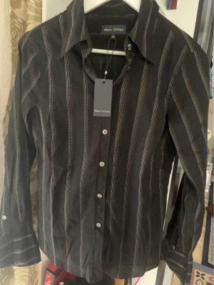 Marc O'Polo Long Sleeve Shirt black-silver-colored