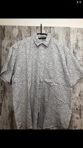 Bertone Camisa de manga corta blanco-negro