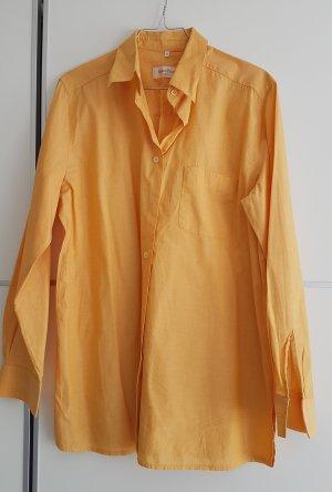 Marco Pecci Camicia a maniche lunghe giallo-oro Tessuto misto
