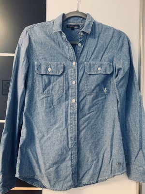Tommy Hilfiger Jeansowa koszula szary niebieski