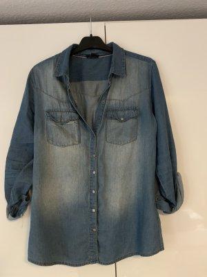 Amisu Jeansowa koszula niebieski