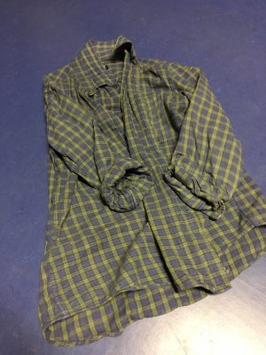 Houthakkershemd grijs-donkerblauw