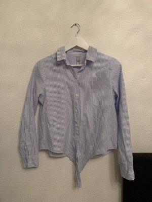 FB Sister Camicia a maniche lunghe bianco-blu fiordaliso