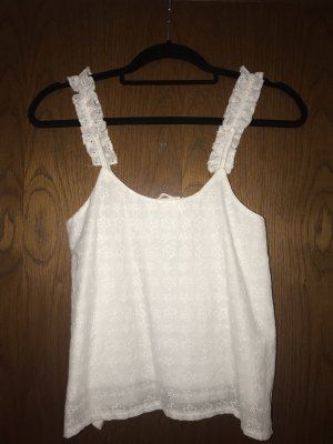 Topshop Petite Short Sleeve Shirt white