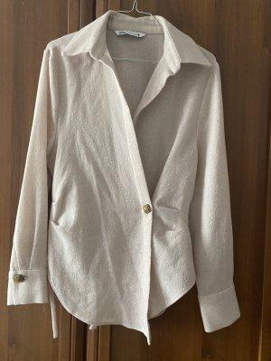 Zara Shirt met lange mouwen room