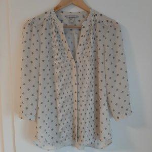H&M Koszula z krótkim rękawem biały-ciemnoszary Poliester