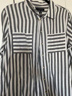 Primark Camicia a maniche lunghe bianco-grigio chiaro