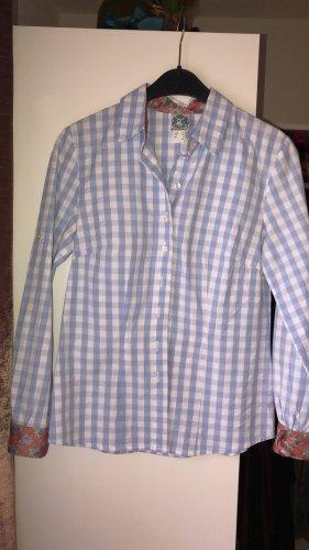 Hammerschmid Long Sleeve Shirt white-azure cotton