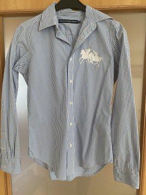 Polo Ralph Lauren Camisa de manga larga blanco-azul aciano