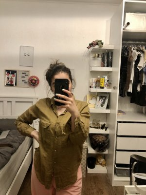 H&M DENIM Koszula z krótkim rękawem ochra