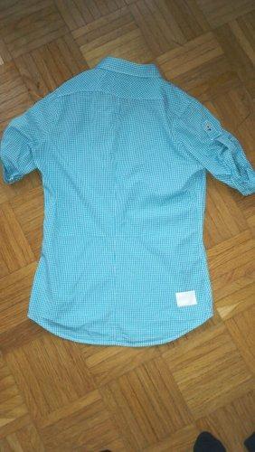 G-Star Raw Folkloristische hemd wit-lichtblauw