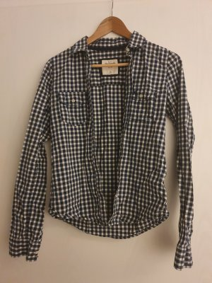 Abercrombie & Fitch Shirt Blouse white-blue