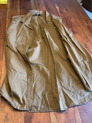 H&M Camicia a maniche corte color cammello-ocra