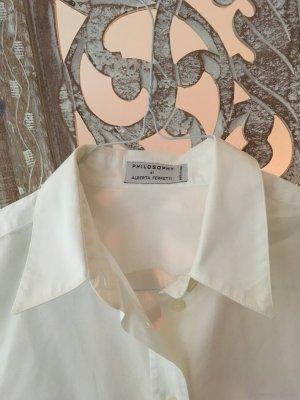 Alberta Ferretti Camisa de manga larga blanco Algodón