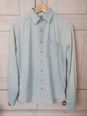 American Apparel Chemise à manches longues bleu clair