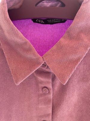 Hemd aus feinem Kord in flieder