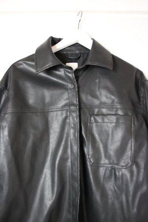 H&M Camicia in pelle nero