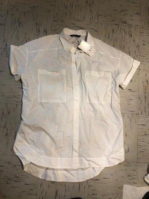 Zara Camisa de manga corta blanco