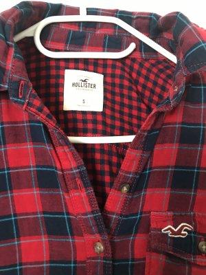 Hollister Lumberjack Shirt dark red-dark blue