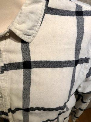 Hemd Beige mit großen schwarzen Karos