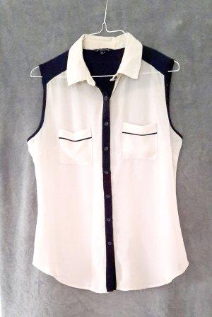 Mango Zijden blouse zwart-room Polyester
