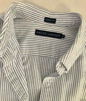 Hemd blau weiß gestreift Ralph Lauren