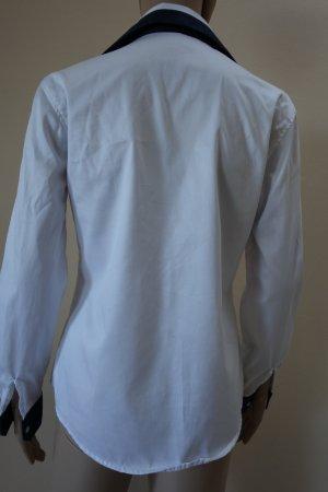 Kołnierzyk koszulowy biały-ciemnoniebieski