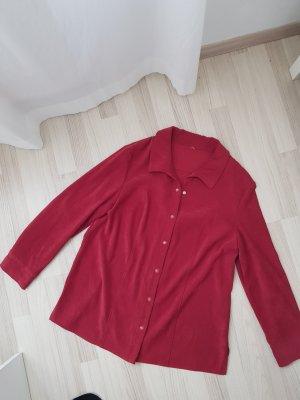 Robe chemise rouge foncé