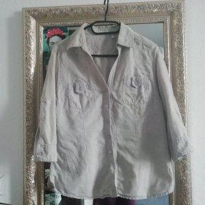 Hemd- Bluse aus Baumwoll/ Leinen- Mischung