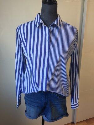 Pimkie Oversized blouse wit-blauw
