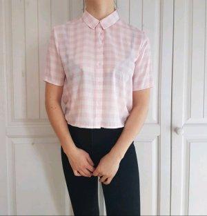 Hemd Bluse croptop crop top True Vintage Oversize tshirt t-shirt shirt pullover kariert rosa weiß
