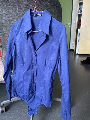 Hallhuber basic Chemise en flanelle bleu foncé-bleu