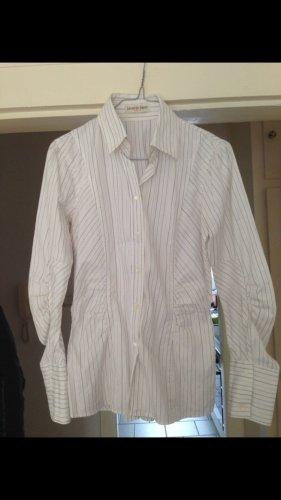 Hemd-Bluse gestreift mit raffinierten Ärmeln
