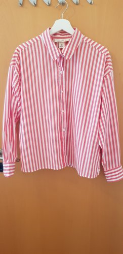 H&M Camicia blusa bianco-rosso